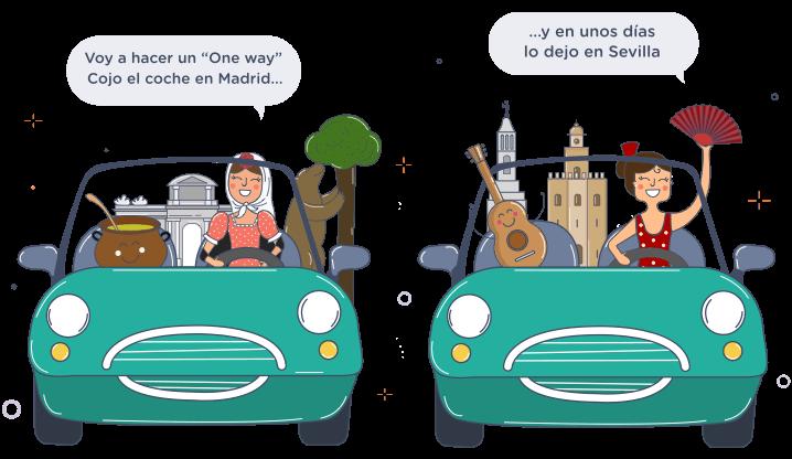 ¿Quieres alquilar un coche en una ciudad y dejarlo en otra?