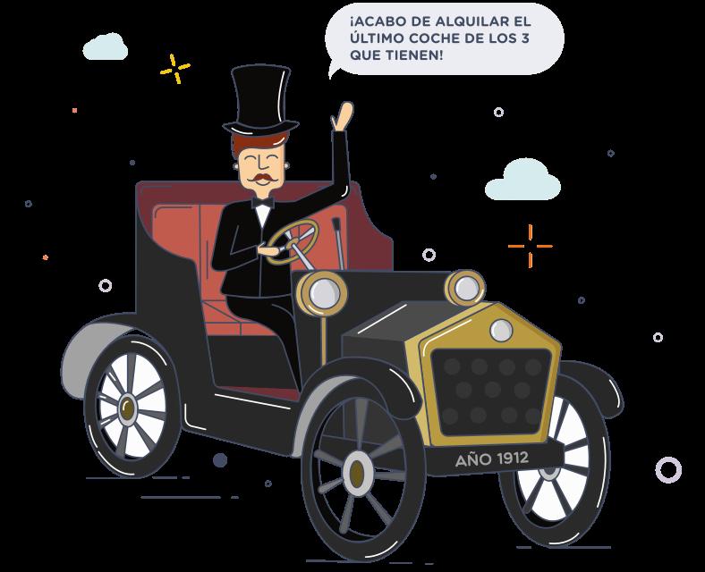 En el año 1912 sólo habían 3 coches en alquiler en la compñía Sixt