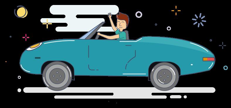 Alquilar un coche de lujo en la crisis de mediana edad