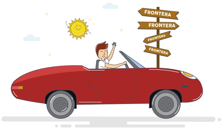 Cruzar fronteras en coche de alquiler
