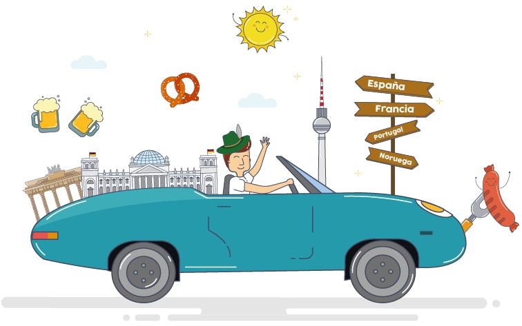 Salir de alemania con un coche de alquiler