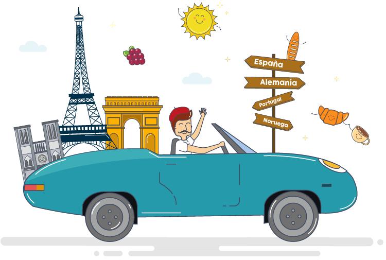 Salir de Francia con coche de alquiler