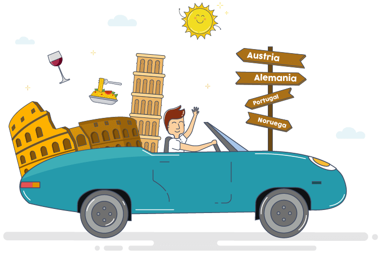 Salir de Italia con un coche de alquiler